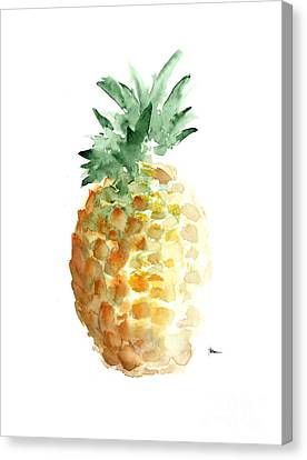 Pineapple Art Print Watercolor Painting Canvas Print