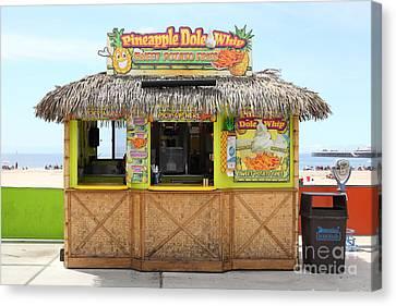 Roller Coaster Canvas Print - Pineapple Dole Whip At The Santa Cruz Beach Boardwalk California 5d23688 by Wingsdomain Art and Photography