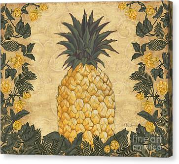 Pineapple Floral Canvas Print by Paul Brent