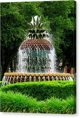 Pineapple Fountain 2 Canvas Print by Randall Weidner