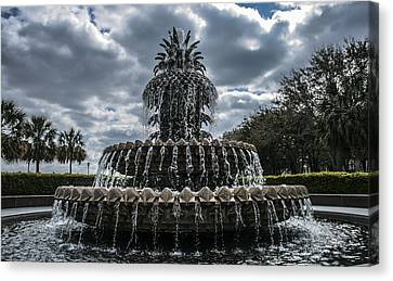 Pineapple Fountain Closeup Canvas Print by Steven  Taylor