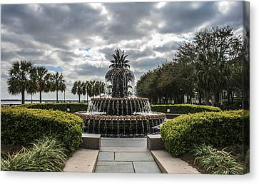 Pineapple Fountain Canvas Print by Steven  Taylor