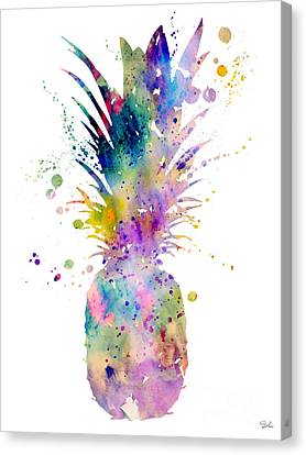 Fruit Canvas Print - Pineapple by Watercolor Girl