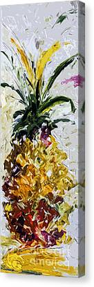 Pineapple Triptych Part 2 Canvas Print by Ginette Callaway