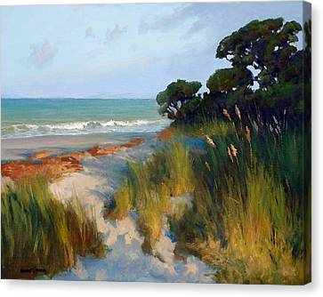 Pines And Sea Oats Canvas Print