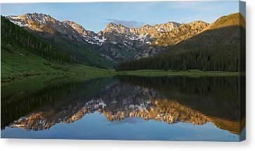 Piney Lake Sunset Panorama Canvas Print