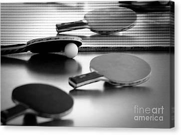 Canvas Print featuring the pyrography Ping-pong by Evgeniy Lankin