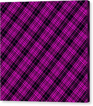 Traditional Quilt Canvas Print - Pink And Black Plaid Cloth Background by Keith Webber Jr