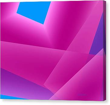 Pink And Blue Mixed Geometrical Art Canvas Print by Mario Perez