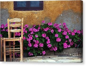 Delos Canvas Print - Pink And Orange In Delos by John Rizzuto