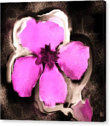Pink And Purple Pansy Canvas Print by Jessica Wright