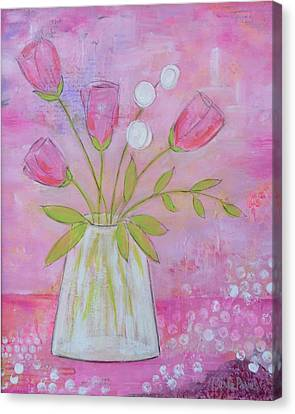Pink And Purple Whimsy  Canvas Print