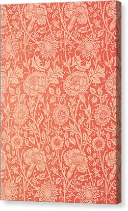 Pink And Rose Wallpaper Design Canvas Print by William Morris