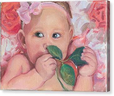 Pink Angel Canvas Print by Gwen Carroll