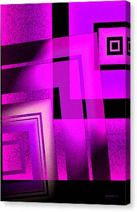 Pink Art Design In Digital Art Canvas Print by Mario Perez