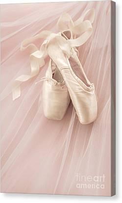Pink Ballet Shoes Canvas Print