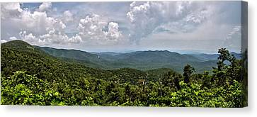 Canvas Print featuring the photograph Pink Bed On Blue Ridge Parkway by Allen Carroll