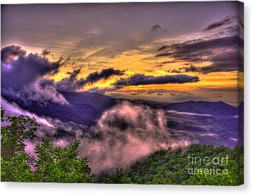 Smokey Mountains Canvas Print - The Blue Ridge Parkway Pink Beds Overlook 2 by Reid Callaway