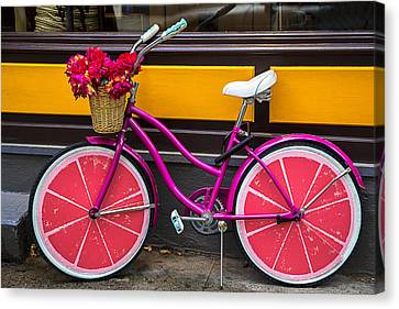 Pink Bike Canvas Print by Garry Gay