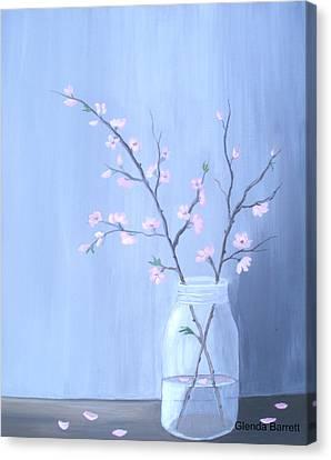Pink Blossoms Canvas Print by Glenda Barrett