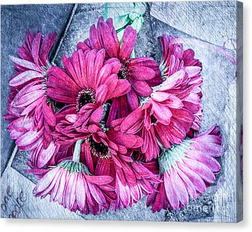 Pink Bouquet Canvas Print by Susan Cole Kelly Impressions
