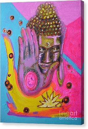 Canvas Print - Pink Buddha by Donna Chaasadah