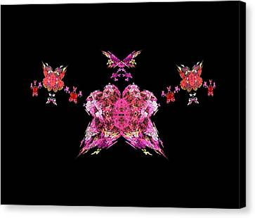 Pink Butterflies Canvas Print by Bruce Nutting