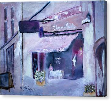 Canvas Print featuring the painting Pink Cafe II by Aleezah Selinger