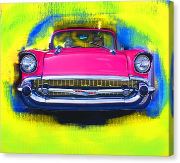 Pink Chevy Canvas Print