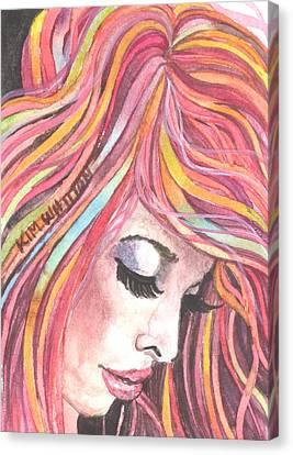 Pink Chiffon Canvas Print