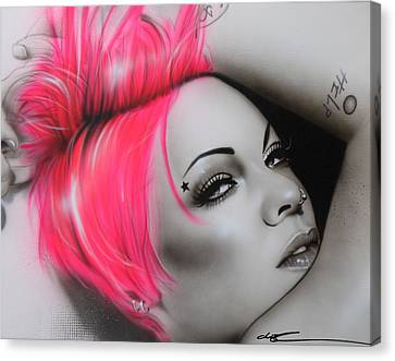 Alecia Moore - ' Pink ' Canvas Print by Christian Chapman Art
