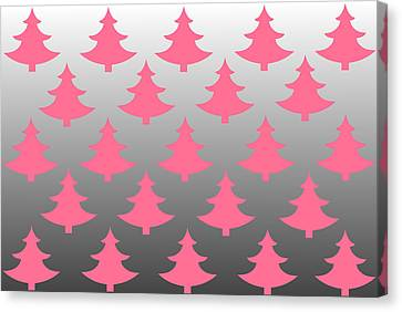 Pink Christmas Canvas Print by Chastity Hoff