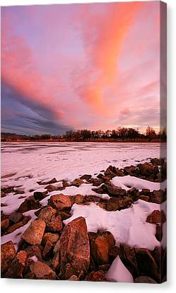 Pink Clouds Over Memorial Park Canvas Print