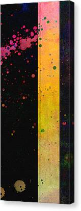 Pink  Color Splach Abstract Art  Canvas Print by Ann Powell