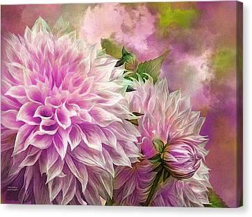 Summer Flowers Canvas Print - Pink Dahlias by Carol Cavalaris