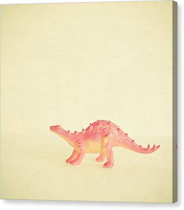 Pink Dinosaur Canvas Print by Cassia Beck