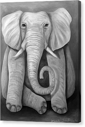 Pink Elephant Edit 4 Canvas Print by Leah Saulnier The Painting Maniac