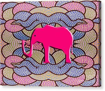 Pink Elephant Canvas Print by Patrick J Murphy