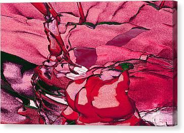 Canvas Print featuring the digital art Pink Eyes by Matt Lindley