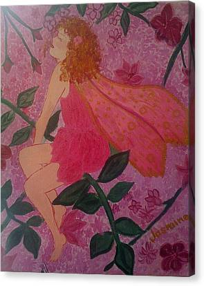 Canvas Print featuring the painting Pink Fairy by Judi Goodwin