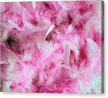Pink Feathers In Digital Oil Impasto Canvas Print by Ed Churchill