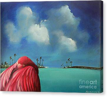 Pink Flamingo Canvas Print by S G