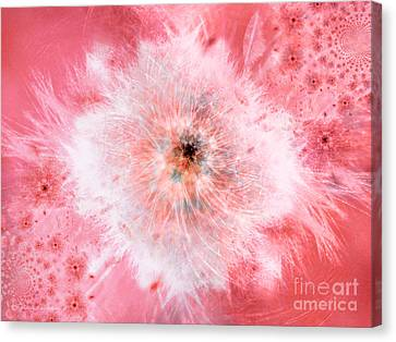 Pink Flower Power Canvas Print by Indira Emmerlich