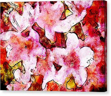 Canvas Print featuring the painting Pink Flowers 2 by Greg Collins