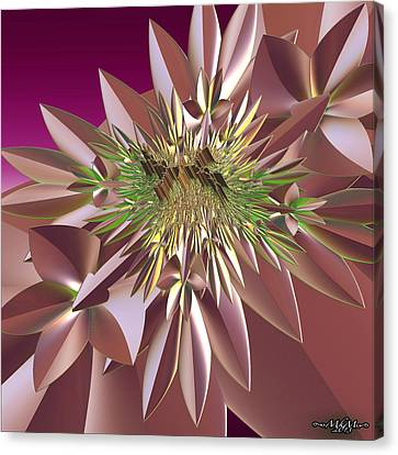 Canvas Print featuring the digital art Pink Flowers by Melissa Messick