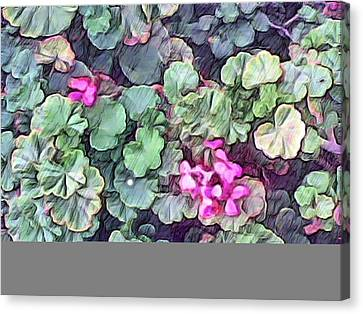 Pink Flowers Painting Canvas Print