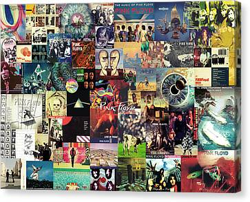 Roll Canvas Print - Pink Floyd Collage II by Taylan Apukovska