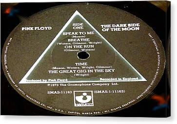 Pink Floyd - The Dark Side Of The Moon Side 1 Canvas Print by Marcello Cicchini