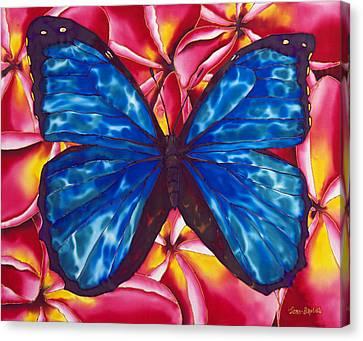 Blue Morpho Butterfly Canvas Print by Daniel Jean-Baptiste