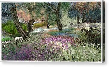 Pink Garden Canvas Print by Susanne Baumann
